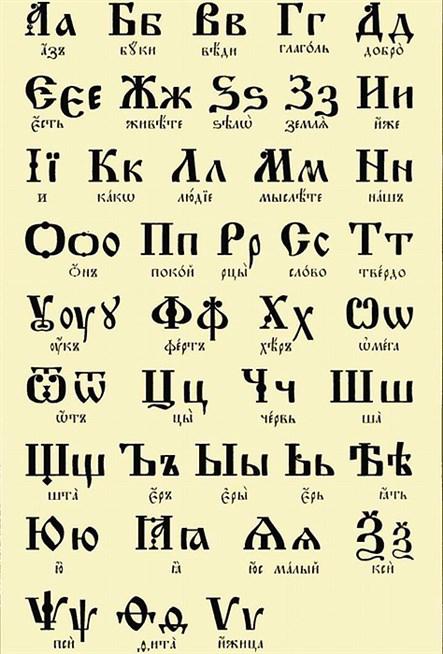 Шаг первый: алфавит